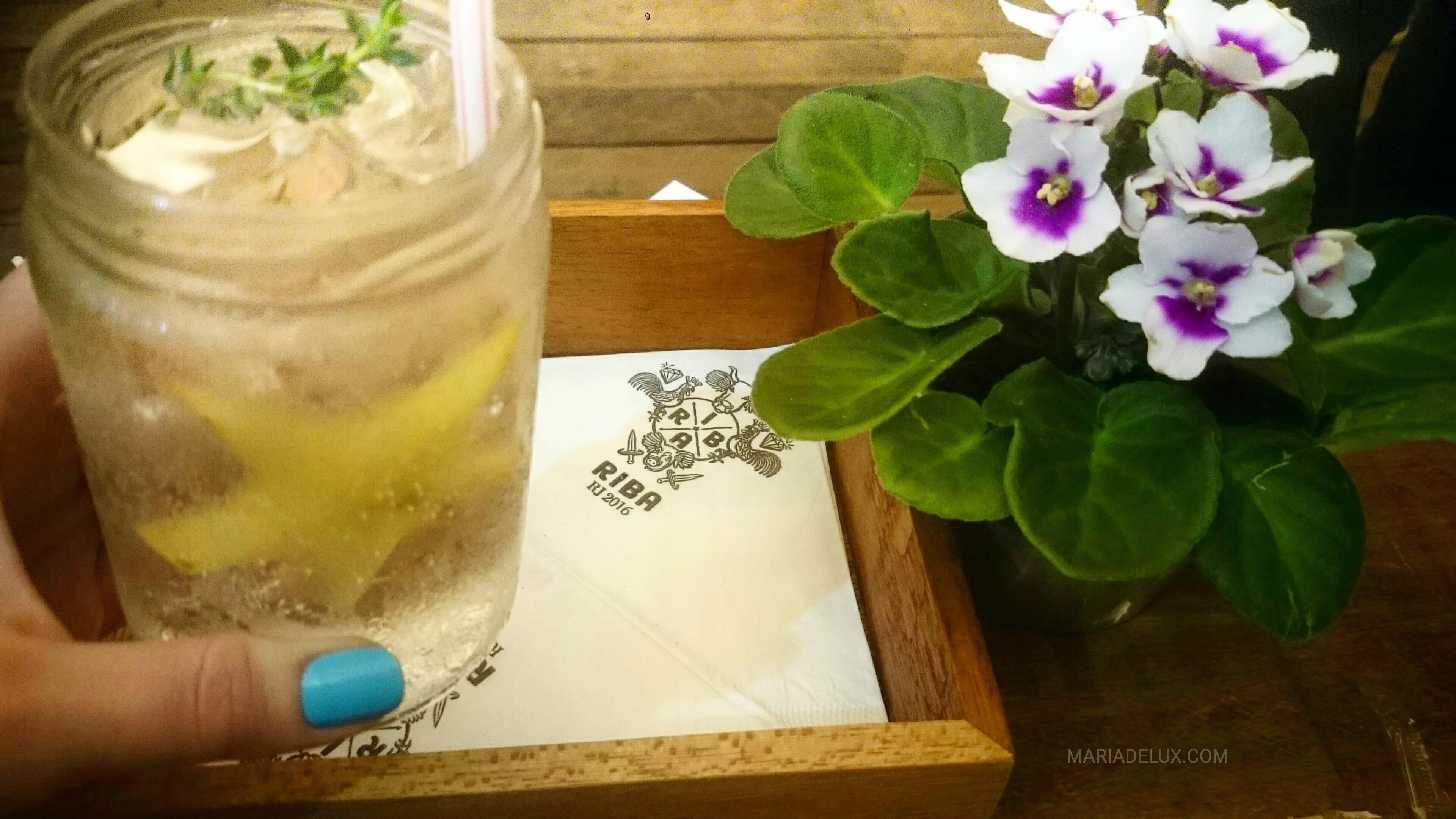 Gind & tonic com carambola no Ribas (Rio de Janeiro) | Gin and tonic with starfruit at Riba (Rio de Janeiro)